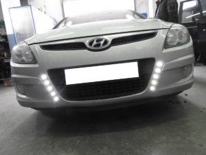 Światła do jazdy dziennej - Hyundai i30