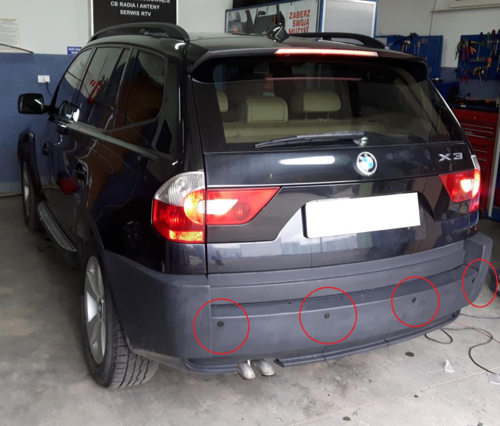 Czujniki parkowania BMW 3