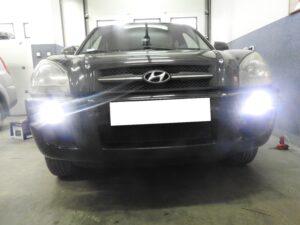 Hyundai Tucson - światła do jazdy dziennej DUOLIGHT