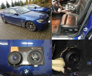 BMW E90 - montaż dedykowanych subwooferów pod siedzenie Match