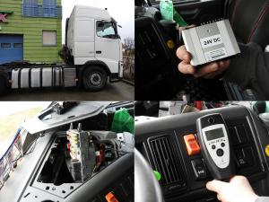Montaż blokady alkoholowej w ciężarówce