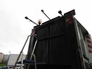 Wymiana kamery cofania w śmieciarce
